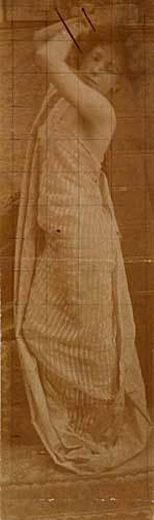 Alphonse Marie Mucha. Study of a model 1905  Via mutualart