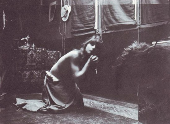 Alphonse Marie Mucha13. Model posing in Mucha's studio rue du Val de Grâce Via muchafoundation