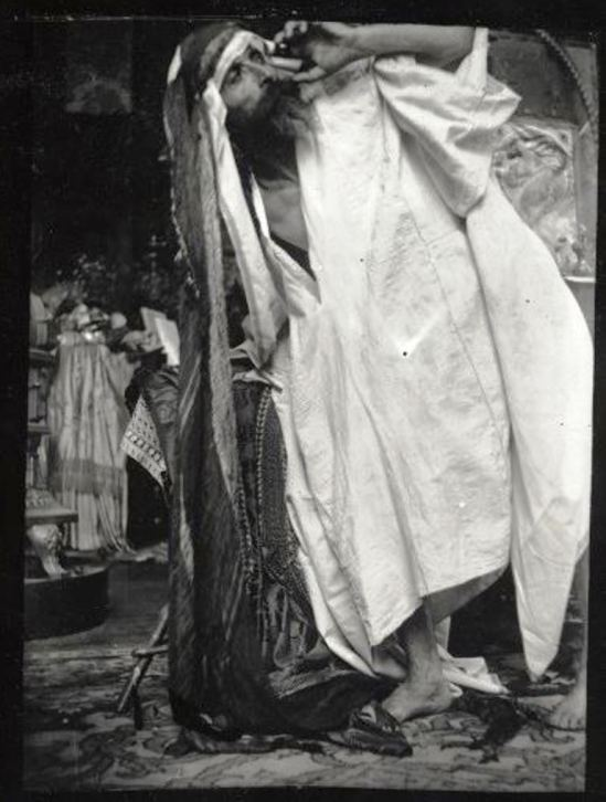 Alphonse Marie Mucha2. Model posing in Mucha's studio rue du Val de Grâce 1900 Via muchafoundation