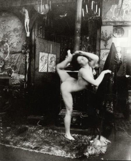 Alphonse Marie Mucha5. Ballet study, model dancing nude in Mucha's studio rue du Val de Grâce 1901 Via muchafoundation
