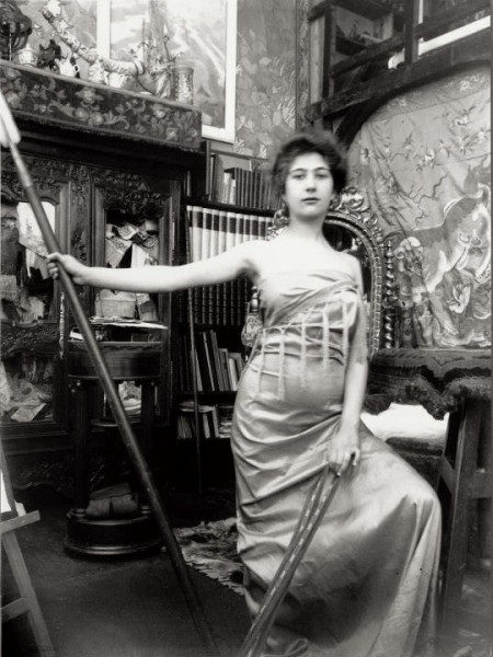 Alphonse Marie Mucha9. Model posing in Mucha's studio rue du Val de Grâce 1900 Via muchafoundation