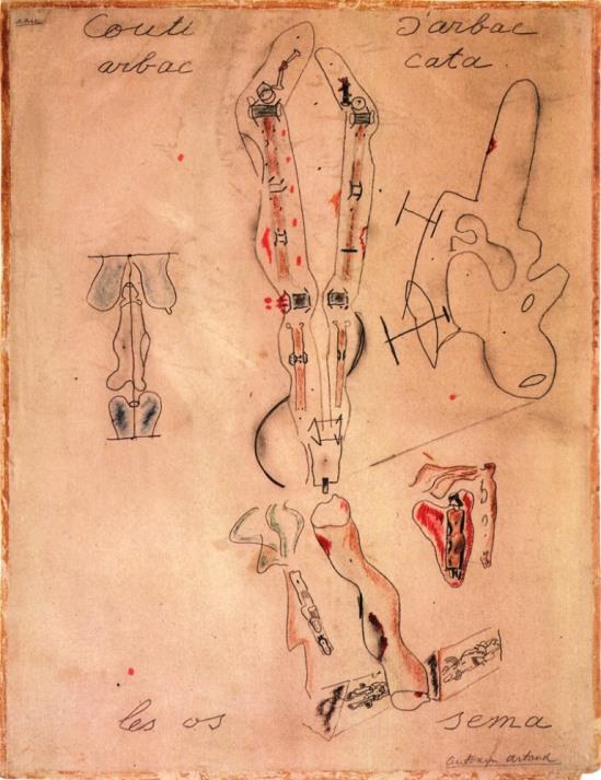 Antonin Artaud. Couti l'anatomie, 1945 Via 50wattts.com