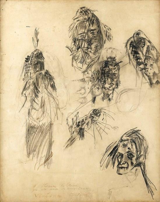 Antonin  Artaud  et  dédicacé  à  Florence  la  Pauvre  qui  elle  aussi  se  révoltera  1948 Via sothebys