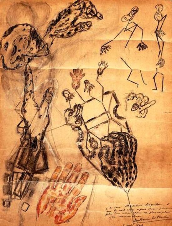 Antonin Artaud. Les corps de terre 1946 Via RMN