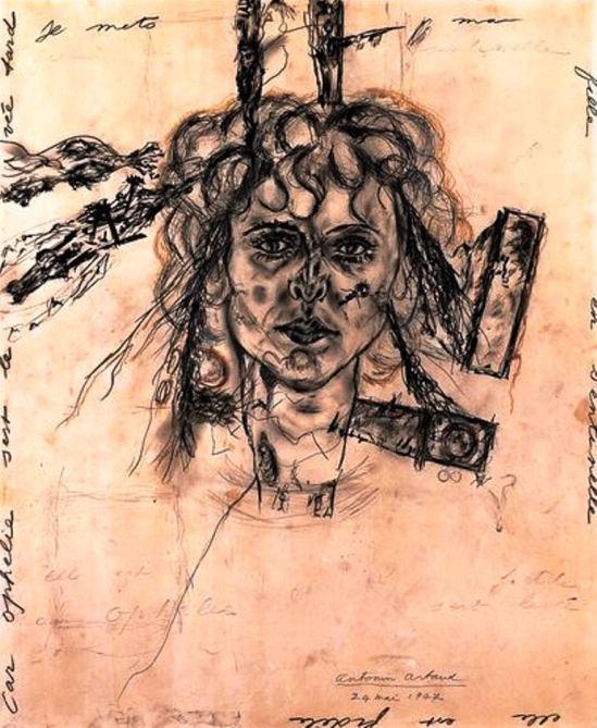 Antonin Artaud. Paule aux ferrets (Portrait de Paule Thevenin) 1947 Via RMN