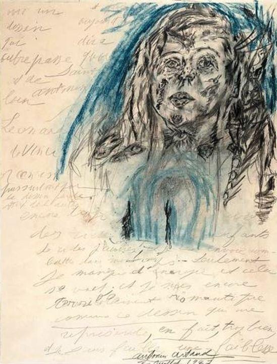Antonin Artaud. Portrait De Jany de Ruy 1947 Via RMN
