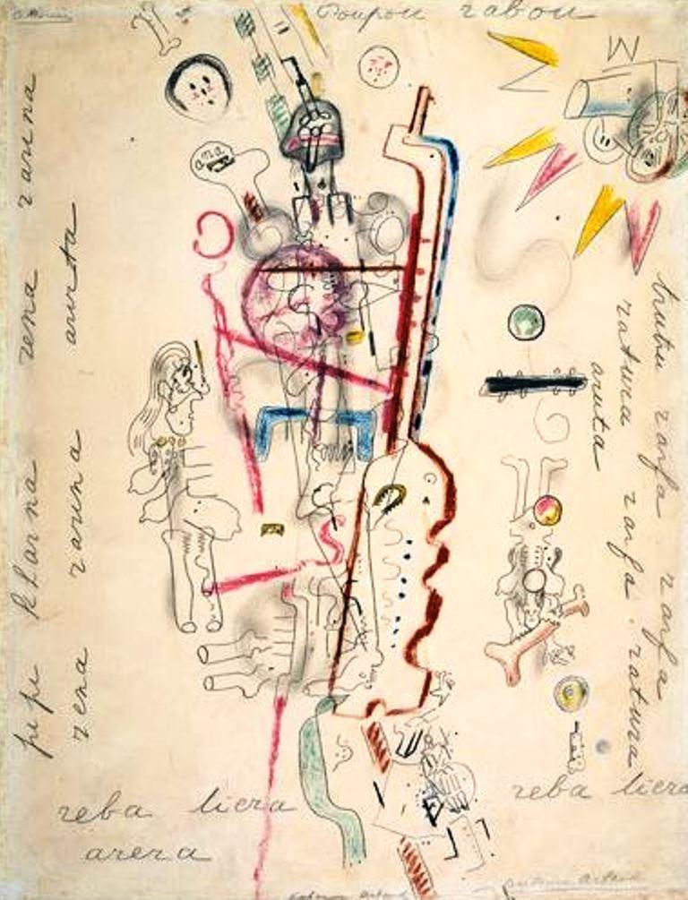 Antonin Artaud. Poupou rabou... Via RMN