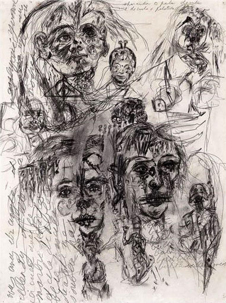 Antonin Artaud. Sans Titre, non daté Via RMN