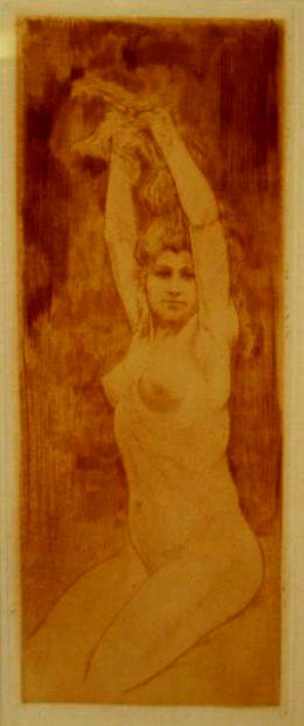 Armand Rassenfosse. Blond, ou nu assis 1894