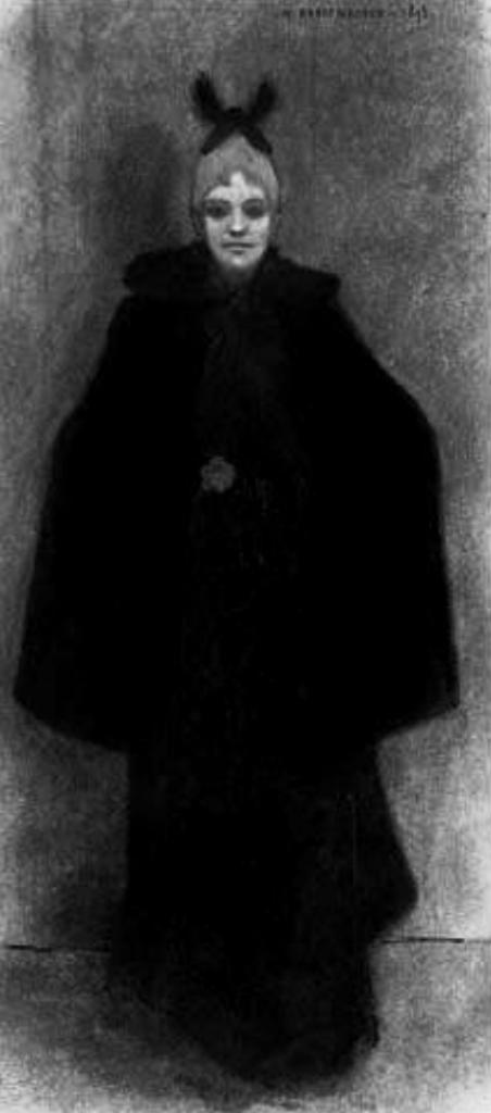 Armand Rassenfosse. Femme en robe noir 1893