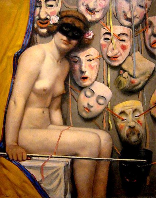 Armand Rassenfosse. La marchande de masques 1917