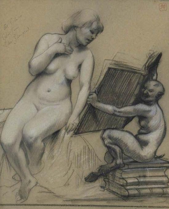 Armand Rassenfosse. Lecture érotique 1899