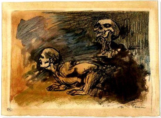 Armand Rassenfosse. L'ennemi. Illustration pour lr poème de Charles Baudelaire