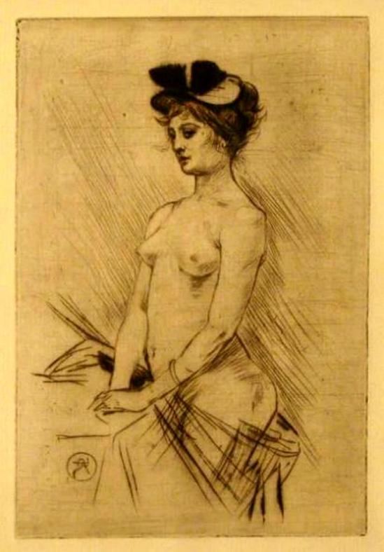 Armand Rassenfosse. Nu. 1894.