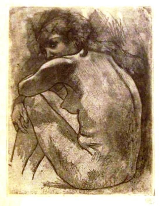 Armand Rassenfosse. Nu assis.1900