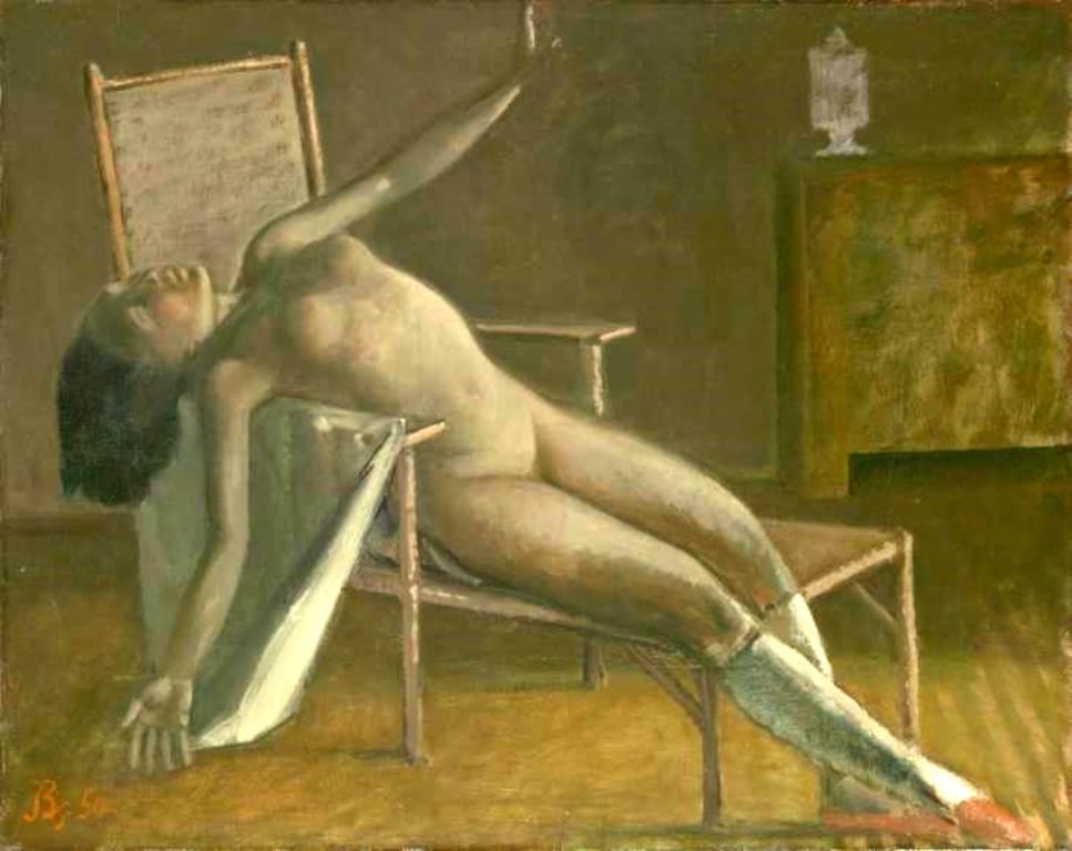 Balthus. Nu sur une chaise longue 1950