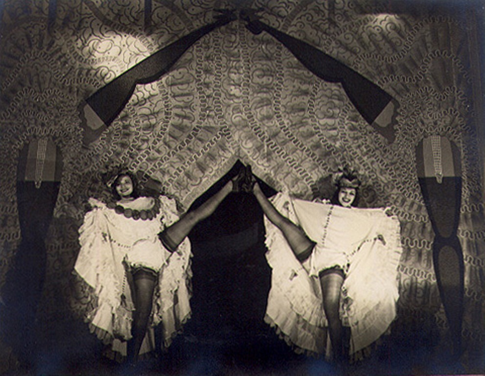 Club Tabarin. Can-Can dancers late 1940  unknown photographer Via vastaimages
