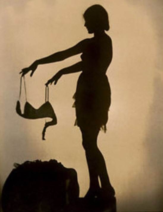 EDWIN BOWER HESSER PIN-UP PHOTO MACK SENNETT GIRL 1920 SILHOUETTE SEXY Via ebay