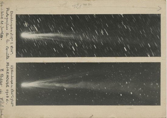 F. Baldet & F. Quénisset, Photographs of Comet Morehouse. October 23, 1908 & November 27, 1908 Via discovermagazine