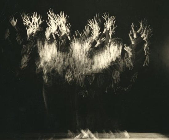 Herbert Matter. Hands in movement (multiple exposure) 1937 Via liveauctioneers