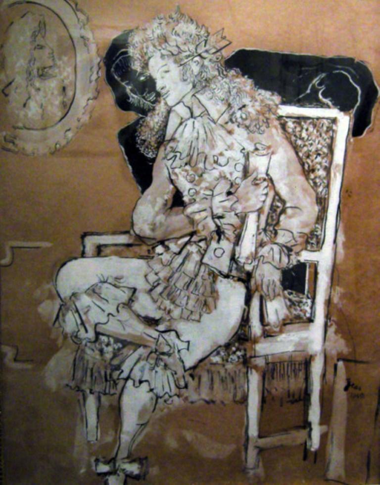 Jean Cocteau. Le poète et sa muse 1940. Via galeriemaubert