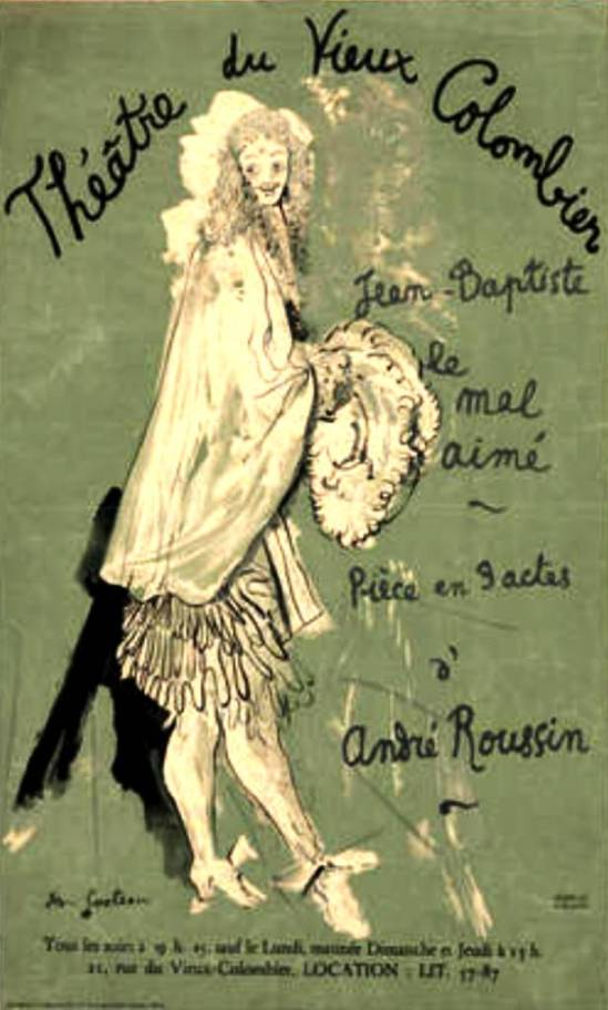 Jean Cocteau. Théâtre du Vieux Colombier. Jean Baptiste, Le Mal Aimé 1948 Via moma