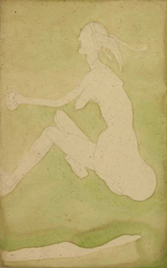 Joseph Beuys, 'White Woman in the Grass (Fairy)' 1954