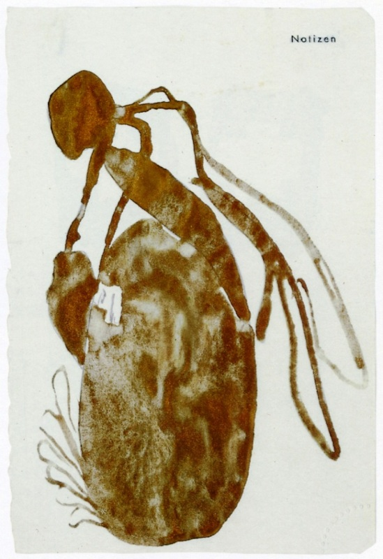 Joseph Beuys - Queen Bee (for bronze sculpture), 1958 - gold, bronze