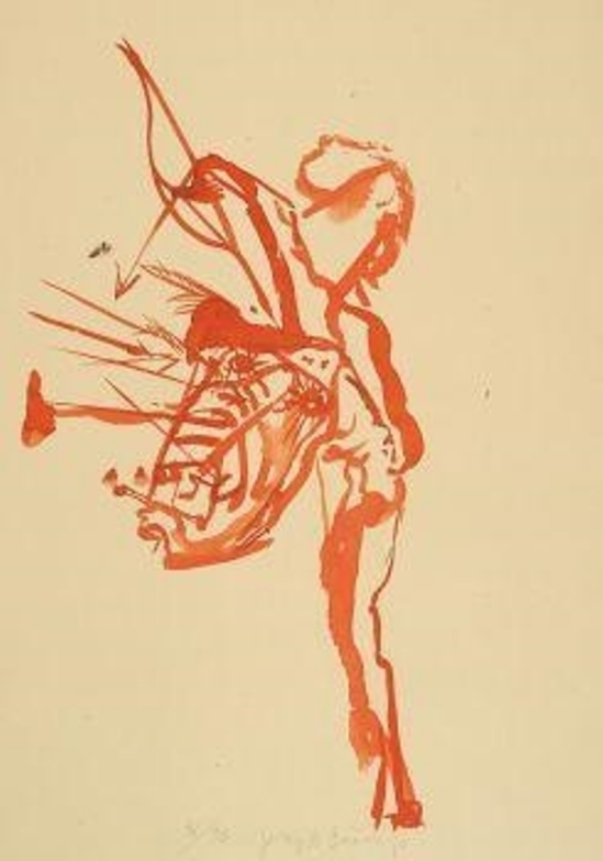 Joseph Beuys. Untitled (Indian Shot with Arrows) 1974