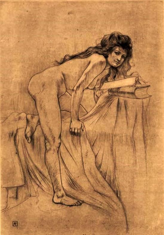 Armand Rassenfosse. La jeune sorcière 1897