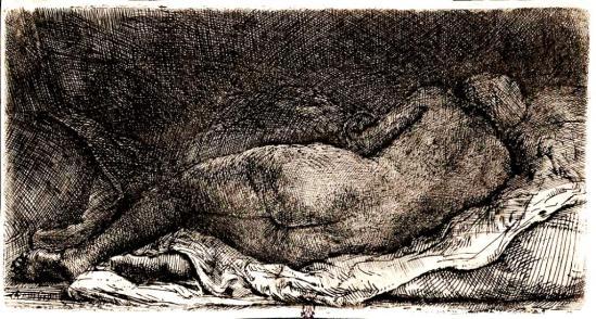 Rembrandt. La négresse couchée 1658