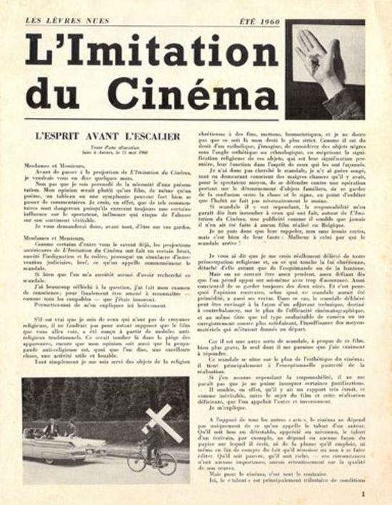 Leo Dohmen1. L'imitation du cinéma