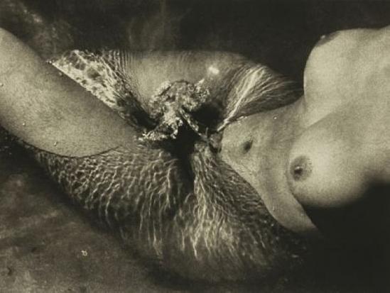 Lucien Clergue. Nu de la mer 1966 Via artnet