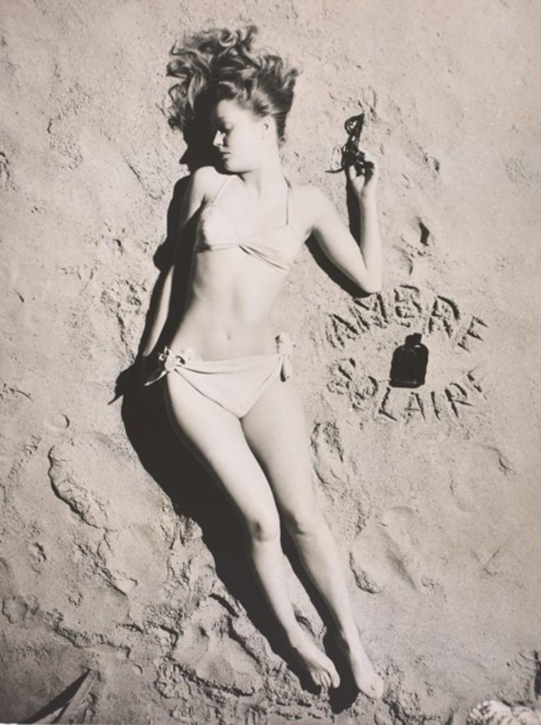 Lucien Lorelle. Miss ambre solaire vers 1947. Via museedelaphoto