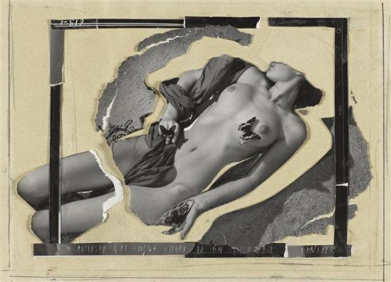 Lucien Lorelle. Nu au papillon 1953 Via RMN