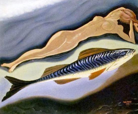 Man Ray. la Femme et son poisson 1941
