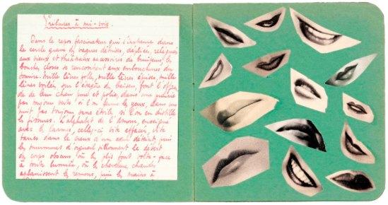 Marcel Mariën. Lettre -collage à Jacqueline Nonkels entre 1937 et 1938