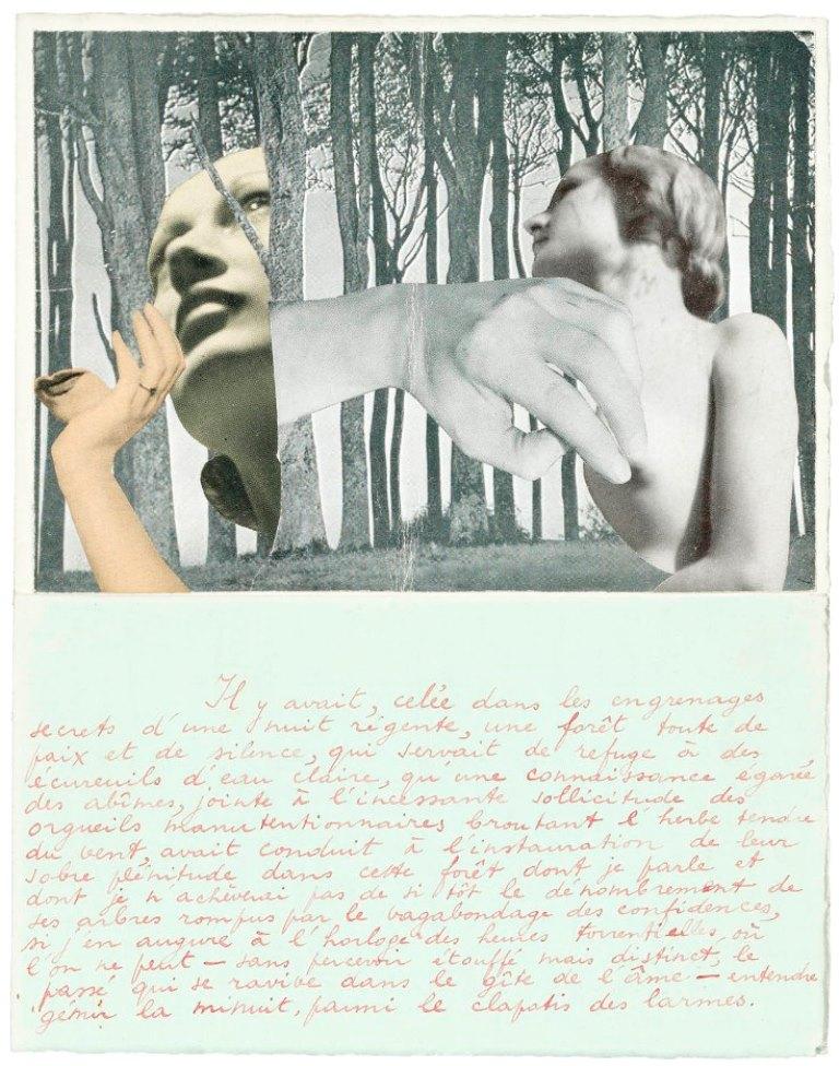 Marcel Mariën. Lettre-collage à Jacqueline Nonkels entre 1937 et 1938