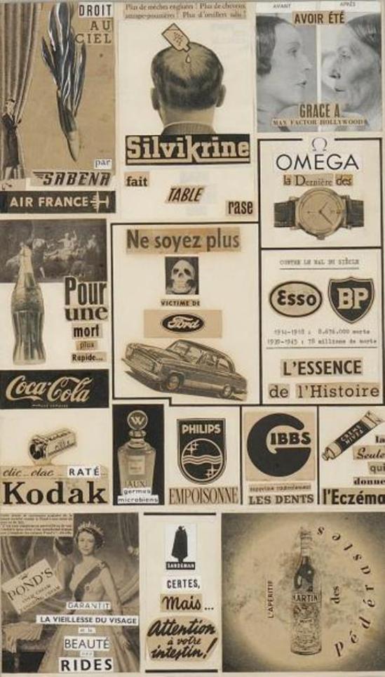 Marcel Marien. Le droit de réponse 1954. Collage Via drouot
