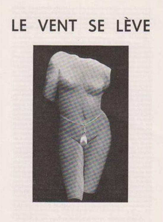 Marcel Marien. Le vent se lève 1963. Tract cosigné parYves Bossut, Freddy de Vree, Marcel Marien, et bien d'autres Via ferraton.
