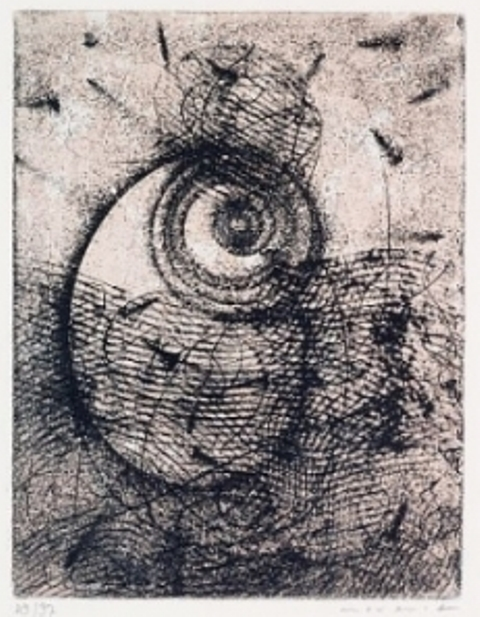 Max Ernst. Hommage à Rimbaud 1961. Eau-forte et aquatinte. Via amorosart