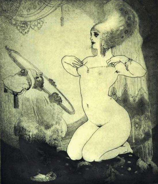 Norman Lindsay. La toilette 1920