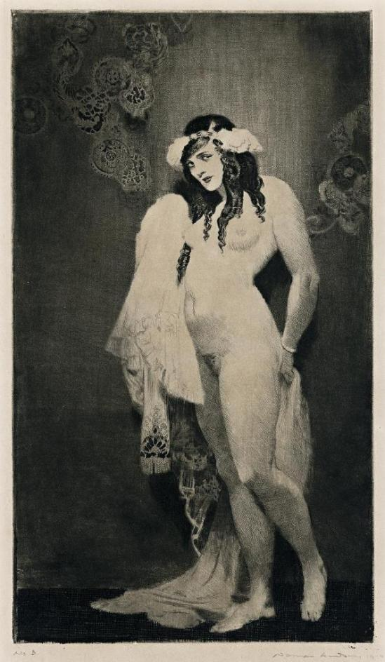 Norman Lindsay. Promise 1919. etching, drypoint and roulette