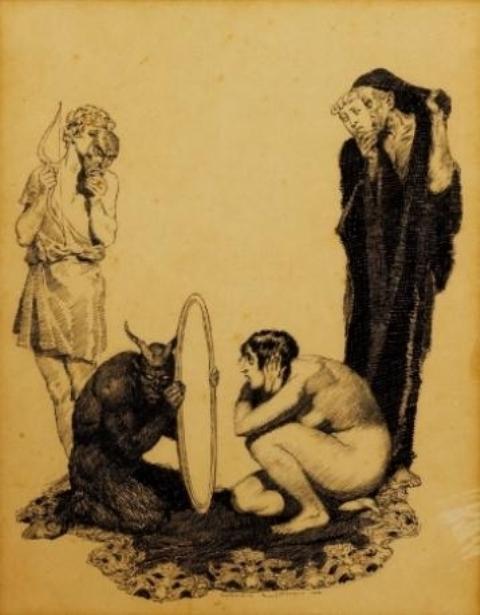 Norman Lindsay. Sans titre 1919
