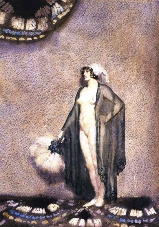 Norman Lindsay. The Blue Shawl