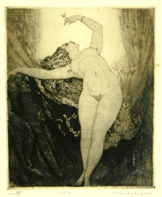 Norman Lindsay. The butterfly