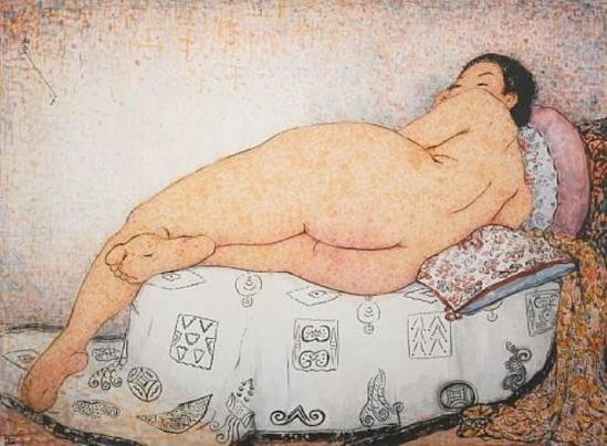 Pan Yuliang. Woman lying on her side