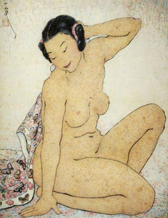 Pan Yuliang. Woman with a scarf