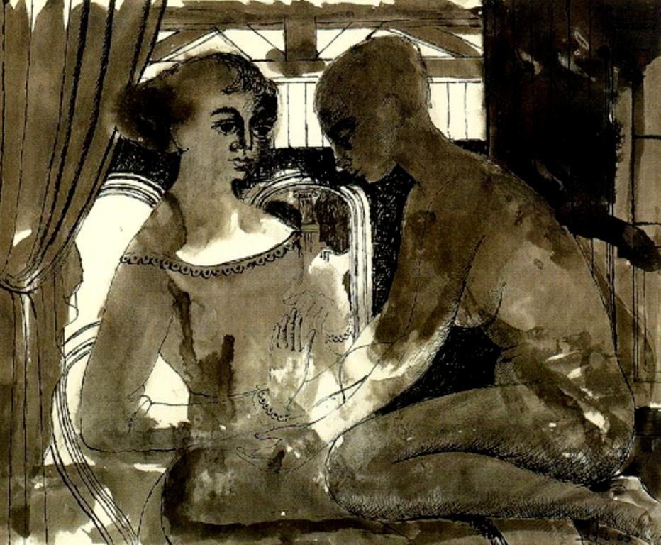 Paul Delvaux. Intimacy