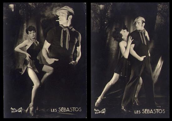 Paul Koruna.  Les Sebastos. La Danse Apache, Paris ,badboy and partner early 1950 Via vastaimages